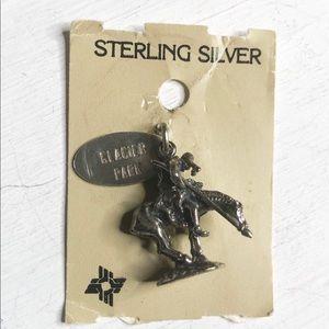 Horse Native Glacier Patk Charm Pendant Sterling